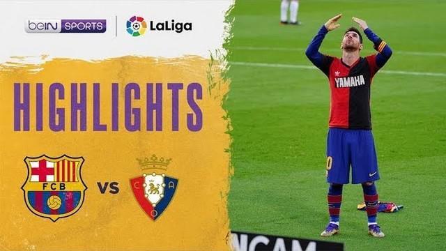 Berita video highlights laga pekan ke-11 Liga Spanyol 2020/2021 antara Barcelona melawan Osasuna yang berakhir dengan skor 4-0, Minggu (29/11/2020) malam hari WIB.