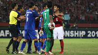Duel Thailand vs Indonesia di final Piala AFF U-16 2018 di Stadion Gelora Delta, Sidoarjo, Sabtu (11/8/2018).