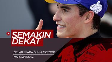 Berita video Marc Marquez semakin dekat dengan gelar juara dunia MotoGP ke-6 setelah menjadi yang terdepan di seri balapan di Aragon, Minggu (22/9/2019).