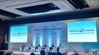 Diskusi panel LPEI dengan mengambil tema The Perfect Time to Enhance Emerging Economies Cooperation on Trade pada pertemuan IMF-World Bank (Foto:Liputan6.com/Maulandy R)