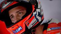 Pebalap Ducati, Andrea Dovizioso, akan start dari pole position pada balapan MotoGP Malaysia 2016 di Sirkuit Internasional Sepang, Minggu (30/10/2016). (Bola.com/Twitter/DucatiMotor)