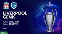 Liga Champions - Liverpool Vs Genk (Bola.com/Adreanus Titus)