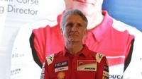 """Direktur Olahraga Ducati, Paolo Ciabatti, saat jumpa pers di Hotel Sheraton, Jakarta, Kamis (1/2/2018). Acara bertajuk """"Libas Tantanganmu"""" ini merupakan rangkaian kampanye dari Shell Advance. (Bola.com/M Iqbal Ichsan)"""
