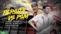 Final Piala Indonesia Leg 1: Duel Pelatih Persija Jakarta vs PSM Makassar. (Bola.com/Dody Iryawan)