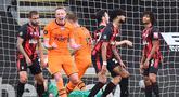 Gelandang Newcastle United, Sean Longstaff, merayakan gol yang dicetaknya ke gawang Bournemouth pada laga lanjutan Premier League pekan ke-32 di Vitality Stadium, Kamis (2/7/2020) dini hari WIB. Newcastle menang 4-1 atas Bournemouth. (AFP/Glyn Kirk/pool)