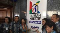 Peresmian rumah kreatif di Karawang (Foto: Merdeka.com/Yayu Agustini Rahayu)