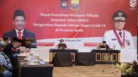 Menteri Dalam Negeri Muhammad Tito Karnavian pada Kegiatan Rakor Kesiapan Pilkada Serentak 2020 dan Pengarahan Kepada Satuan Tugas Covid-19 di Provinsi Jambi bertempat di Ballroom Swissbell Hotel Jambi, Rabu (26/8/2020). (Ist)