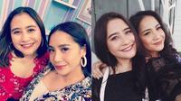 Momen pertemuan Prilly dan Nagita yang disebut berwajah kembar. (Sumber: Instagram/@raffinagita1717/@prillylatuconsina96)