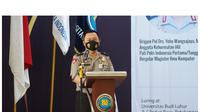 Brigjen Pol Drs Yehu Wangsajaya, M.Kom ketika berorasi sebagai Anggota Kehormatan Ikatan Ahli Informatika Indonesia, Sabtu (19/12/2020).