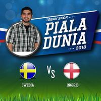 Laga ketiga babak perempat final piala dunia 2018 akan mempertemukan Inggris dan Swedia nanti malam.