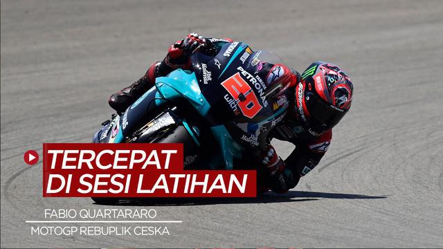 Berita VIdeo Fabio Quartararo Jadi Pembalap Tercepat di Sesi Latihan MotoGP Republik Ceska