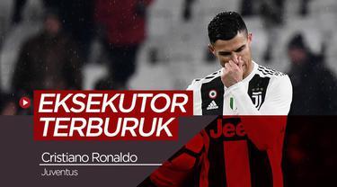 Berita video tentang fakta bahwa Cristiano Ronaldo adalah eksekutor tendangan bebas terburuk di Serie A.