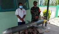 Penemuan drone bawah laut di Selayar, Sulawesi Selatan yang diketahui disebut juga seaglider. (Foto: TNI AL).