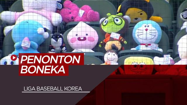 Berita Video Bikin Gemes,Ratusan Boneka KarakterJadi Penonton di Liga Baseball Korea Selatan