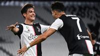 4. Paulo Dybala. Striker Juventus asal Argentina ini telah mencetak 7 gol dari situasi bola mati sejak awal musim 2016/2017. Mungkin saja bisa lebih, jika saja Cristiano Ronaldo tidak bergabung ke Juventus pada awal musim 2018/2019. (AFP/Marco Bertorello)