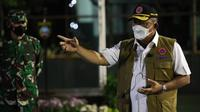 Ketua Satgas COVID-19 Ganip Warsito memberikan arahan kepada 450 prajurit TNI dalam apel gelar pasukan di Makodim 0722 Kudus, Jawa Tengah, Rabu (2/6/2021). (Badan Nasional Penanggulangan Bencana/BNPB)