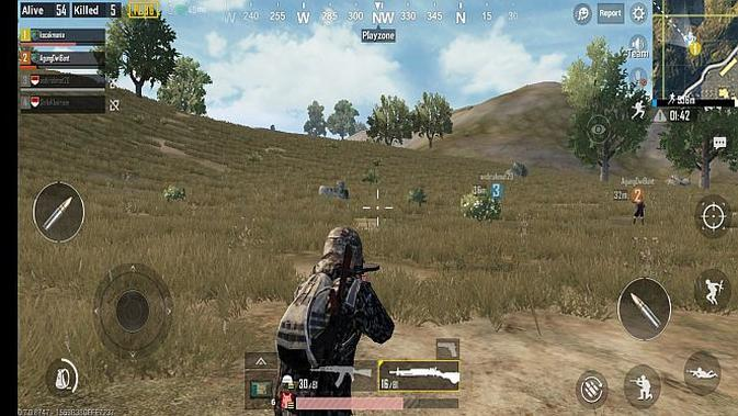 Memainkan PUBG Mobile di Huawei Nova 3i (Foto: screenshot)