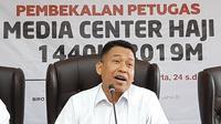 Sekjen Kemenag M Nur Kholis Setiawan saat membuka Pembekalan MCH 1440H/2019M di Jakarta, Senin (24/6/2019). Dok MCH