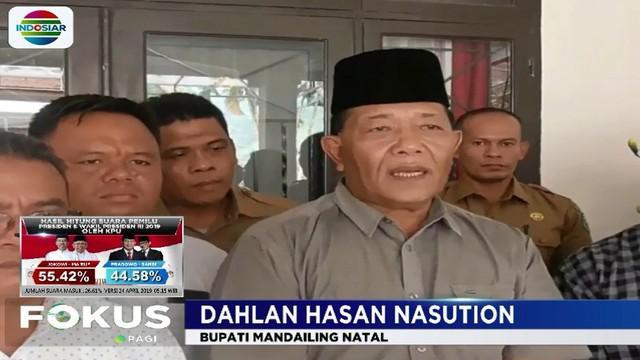 Dahlan meminta kepada seluruh rakyat Mandailing Natal untuk bersatu kembali dan menghindari perepecahan pasca-pemilu.