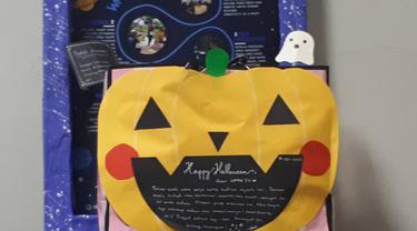 Halloween Treat lewat Box Isi Snack