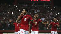 Timnas Indonesia U-16 mengalahkan Malaysia 1-0, Kamis (9/8/2018) di Stadion Gelora Delta, Sidoarjo. (Bola.com/Aditya Wany)