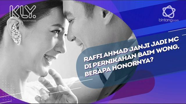 Di pernikahan yang akan datang, Baim meminta Raffi Ahmad untuk menjadi MC di pernikahannya.