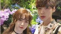 Ahn Jae Hyun dan Goo Hye Sun menunjukkan kemesraannya sebagai pengantin baru. (Instagram/aagbanjh)
