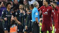 Tidak ada pemenang dalam laga antara Liverpol dan Manchester City pada laga pekan kedelapan Premier League, Minggu (7/10/2018). (AFP/Paul Ellis)