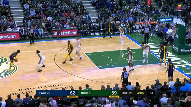 Berita video game recap NBA 2017-2018 antara Indiana Pacers melawan Milwaukee Bucks dengan skor 103-96.