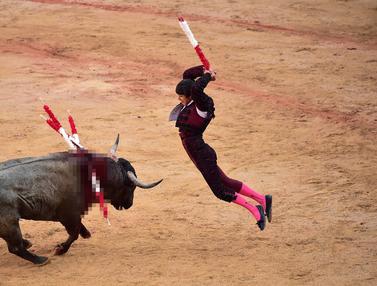 Pertarungan Sengit Matador dan Banteng di Festival San Fermin