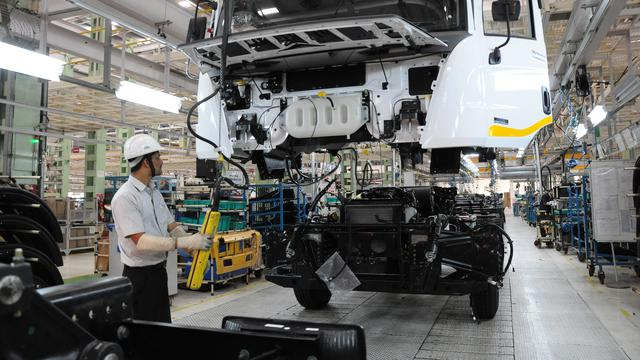 pabrik Mahindra Vehicle Manufacturers Ltd, Chakan, India (Mahindra)