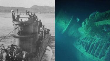 Kapal Selam U-3523 milik Nazi ditemukan di utara Denmark, setelah hilang 73 tahun lamanya (AFP)