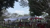 Ani Yudhoyono akan dimakamkan di Taman Makam Pahlawan (TMP) Kalibata, Jakarta Selatan, Minggu (2/6/2019) sore. (Liputan6.com/Lizsa Egeham)
