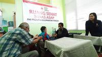 Warga yang terdampak kebakaran hutan dan lahan (karhutla) di Kalimantan Tengah bisa mendatangi PMI Provinsi. (Foto: PMI)