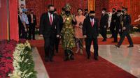 Presiden Jokowi saat datang ke Sidang Tahunan MPR, Jumat (14/8/2020). (dok Humas DPR)