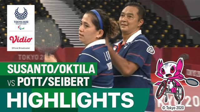 Berita Video, Highlights Pertandingan Ganda Campuran Indonesia Vs Jerman di Paralimpiade Tokyo 2020 pada Kamis (2/9/2021)