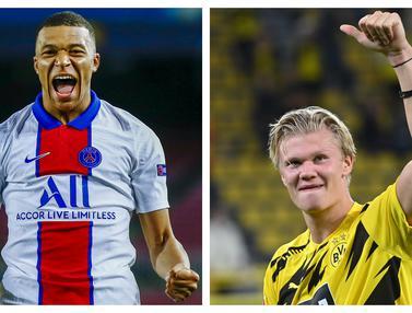 FOTO: Deretan Pencetak Gol Terbanyak Liga Champions 2020/2021, Erling Haaland Tertajam