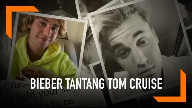 Justin Bieber mengajak Tom Cruise untuk bertarung di UFC. Tantangan tersebut ia sampaikan melalui akun Twitter miliknya. Belum diketahui alasan Bieber memberikan tantangan tersebut.