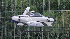 Mobil terbang berawak SD-03 saat sesi uji terbang di lapangan uji Toyota, Jepang tengah dalam foto handout ini diambil pada Agustus 2020. SkyDrive Inc. Jepang, di antara berjuta proyek mobil terbang di seluruh dunia, telah melakukan uji terbang yang sukses. (©SkyDrive/CARTIVATOR 2020 via AP)