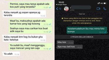6 Chat Cari Kos Putri Ini Penuh Drama, Bikin Elus Dada