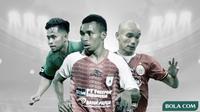 Andik Vermansah, Todd Rivaldo Ferre dan Riko Simanjuntak. (Bola.com/Dody Iryawan)