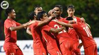 Timnas Singapura meraih kemenangan 2-1 atas Kamboja pada laga persahabatan jelang Piala AFF 2018 di Phnom Penh Olympic Stadium, Selasa (16/10/2018) malam WIB. (dok. FA Singapore)