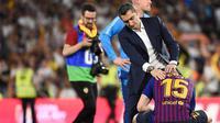 Pelatih Barcelona, Ernesto Valverde.(AFP/JOSE JORDAN)