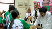 Para penyandang disabilitas meyakini pasangan calon gubernur dan wakil gubernur Sumatera Utara, Djarot Saiful Hidayat-Sihar Sitorus mampu memberikan harapan baru menciptakan inklusif. (Liputan6.com/Reza)