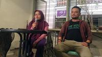 Konferensi Pers oleh Yuli Riswati dan AJI Surabaya. (Dokumentasi Ketua AJI Surabaya  Surabaya, Miftah Faridl)