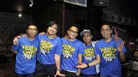 Meski grup vokal asal Bandung Project Pop ditinggal Muhammad Fachroni alias Oon, pada Januari silam, kelima personel ini juga belum ada rencana untuk mengantinya. Bahkan, ia melihat almarhum sosok yang tak tergantikan. (Nurwahyunan/Bintang.com)