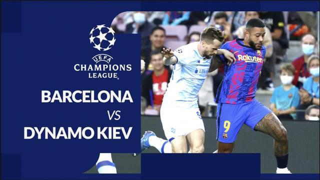 Berita motion grafis laga matchday 3 Grup E Liga Champions 2021/2022, Barcelona kontra Dynamo Kiev, Rabu (20/10/2021) malam hari WIB.
