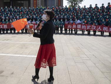 FOTO: Perpisahan Kelompok Petugas Medis Terakhir dari Luar Wuhan