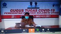 Jubir Gugus Tugas Covid-19 Provinsi Sulut dr Steaven Dandel saat jumpa pers, Senin (04/05/2020).
