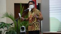 Menteri Kesehatan RI Budi Gunadi Sadikin menandatangani Nota Kesepahaman tentang pembinaan dan pengawasan pemanfaatan tenaga nuklir bidang kesehatan di Gedung Kemenkes, Jakarta, Jumat, 16 April 2021. (Dok Kementerian Kesehatan RI)